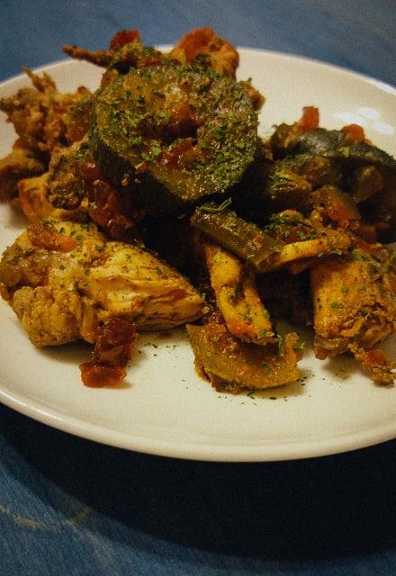 филе с овощным паприкашем