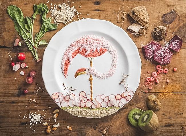 рисунок из еды