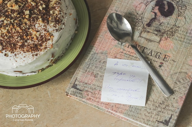 Полосатый пп торт с нежным кремом. Назовем его «навеянный осенью»…