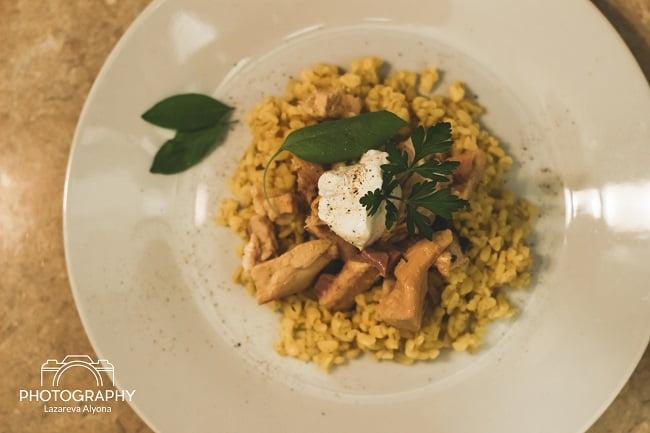 Быстрый полезный ужин: булгур с горбушей