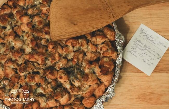Запеканка из курицы с рисом в духовке