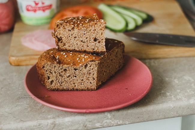 Полезный тыквенный хлеб для сэндвичей с отрубями и клетчаткой