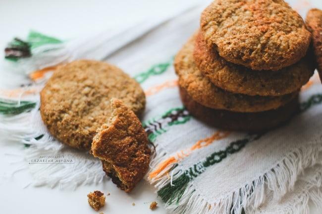 Полезное овсяно-тыквенное печенье
