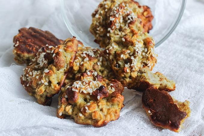 Овсяное печенье с отрубями и бананом