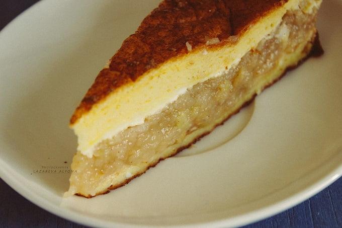 пп пирог с тертыми яблоками