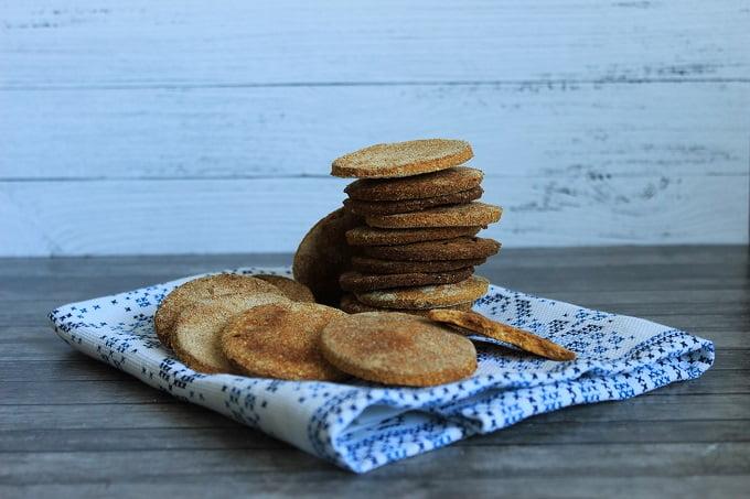 Тыквенное крекерное печенье