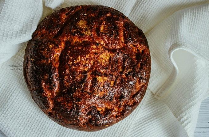 Диетический круглый хлеб из отрубей