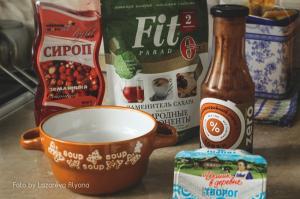 Ингредиенты для низкокалорийного крема для пирожных